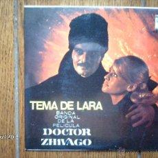Discos de vinilo: MAURICE JARRE - DOCTOR ZHIVAGO - TEMA DE LARA + 3. Lote 41018573