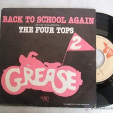 Discos de vinilo: THE FOUR TOPS. GREASE 2. BACK TO SCHOOL AGAIN. RSO POLYGRAM 1982.VG+. Lote 40965801