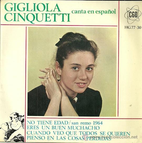 GIGLIOLA CIQUETTI CANTA EN ESPAÑOL EUROVISION 1964 EP SELLO HISPAVOX (Música - Discos de Vinilo - EPs - Festival de Eurovisión)