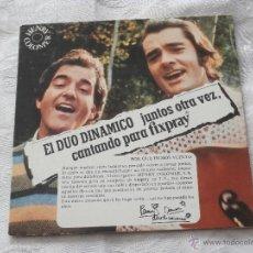 Discos de vinilo: DUO DINAMICO 7´EP CANTANDO PARA FIXPRAY -4 TEMAS (1976) NUEVO. Lote 41024714
