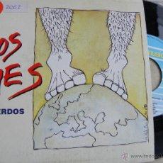 Discos de vinilo: LOS PIES -RECUERDOS -SINGLE 1991 -BUEN ESTADO. Lote 41024981