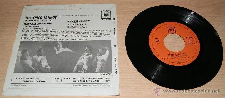 Discos de vinilo: EP LOS CINCO LATINOS con Lucio Milena y su orquesta - ET MAINTENANT CBS 1962. - Foto 2 - 41028532