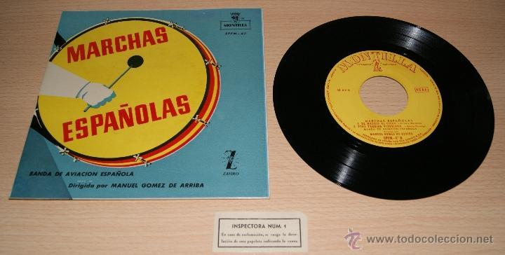 MARCHAS ESPAÑOLAS - BANDA DE AVIACIÓN ESPAÑOLA - MONTILLA , ZAFIRO - MANUEL GOMEZ DE ARRIBA (Música - Discos de Vinilo - EPs - Clásica, Ópera, Zarzuela y Marchas)