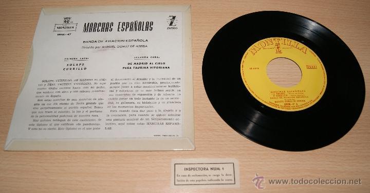 Discos de vinilo: Marchas Españolas - Banda de Aviación Española - Montilla , Zafiro - Manuel Gomez de Arriba - Foto 2 - 41028940
