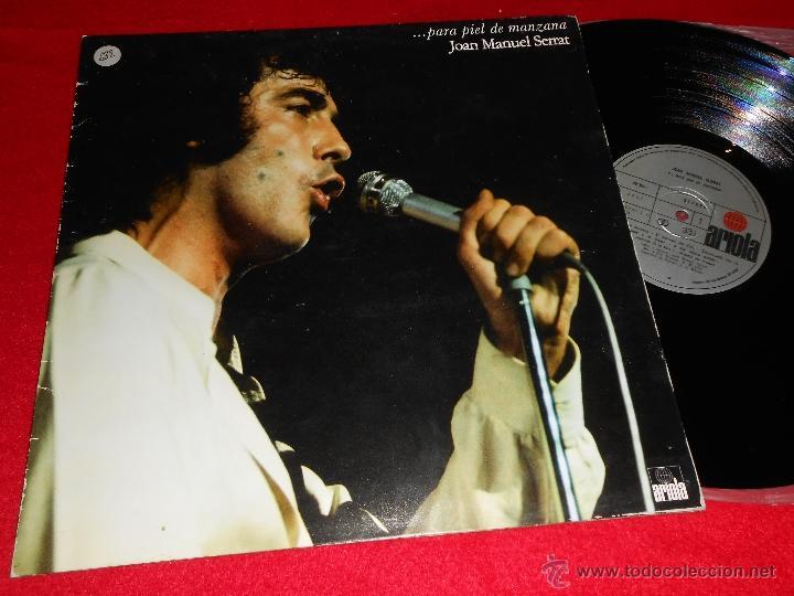 JOAN MANUEL SERRAT...PARA PIEL DE MANZANA LP 1975 ARIOLA PORTADA ABIERTA (Música - Discos - LP Vinilo - Solistas Españoles de los 50 y 60)