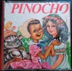 Disques de vinyle: EL CUENTO DE PINOCHO. EDICIONES PAULINAS - SINGLE + 36 DIAPOSITIVAS EN COLOR. Lote 41032764