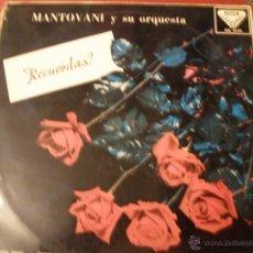 Discos de vinilo: MANTOVANI Y SU ORQUESTA RECUERDAS. Lote 41033638