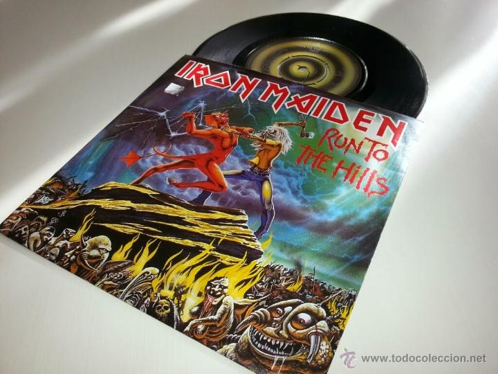 IRON MAIDEN - RUN TO THE HILLS 7 PULGADAS - ORIGINAL UK 1982 - EMI 5263 - VINILOVINTAGE (Música - Discos - Singles Vinilo - Heavy - Metal)