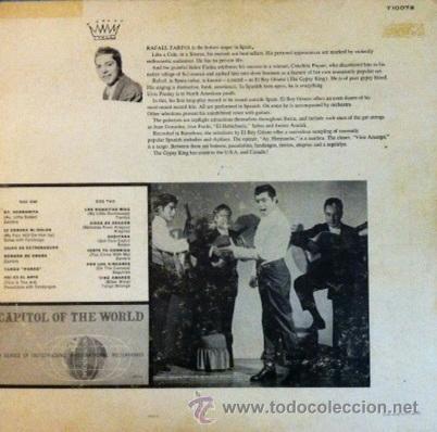 Discos de vinilo: RAFAEL FARINA - EL REY GITANO - EDICIÓN USA - Foto 2 - 41047351