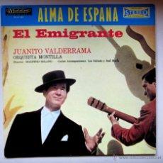 Discos de vinilo: JUANITO VALDERRAMA - EDICIÓN FRANCESA - ALMA DE ESPAÑA - EL EMIGRANTE. Lote 41062538