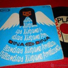 Discos de vinilo: DINA AY DEL CHIQUIRRITIN/EN UN BURRITO OREJON/ZAMBA DEL NIÑITO/TRALALA DE LA NOCHEBUENA EP 1966 SONO. Lote 41065829
