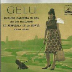 Discos de vinilo: GELU EP SELLO LA VOZ DE SU AMO AÑO 1962 . Lote 41080720