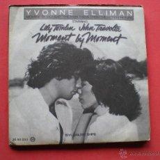 Discos de vinilo: YVONNE ELLIMAN MOMENT BY MOMENT+SALLING SHIPS/ SINGLE RSO 78 PEPETO. Lote 41080961