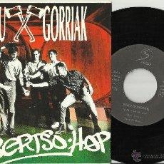 Discos de vinilo: NEGU GORRIAK SINGLE BERTSO-HOP ESPAÑA 1990. Lote 60556690