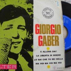 Discos de vinilo: GIORGIO GABER -EP 1967 -BELTER. Lote 41070089