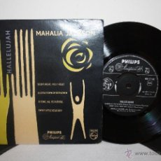 Discos de vinilo: MAHALIA JACKSON - HALLELUJAH-SWEET LITTLE JESUS/SILENT NIGHT, HOLY NIGHT... 1958, PHILIPS. Lote 41113465