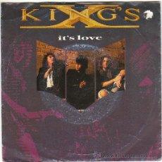 Discos de vinilo: KIXG'S - IT'S LOVE - WE WERE BORN TO BE LOVED, SINGLE EDITADO POR MEGA FORCE EL AÑO 1990. Lote 41118164