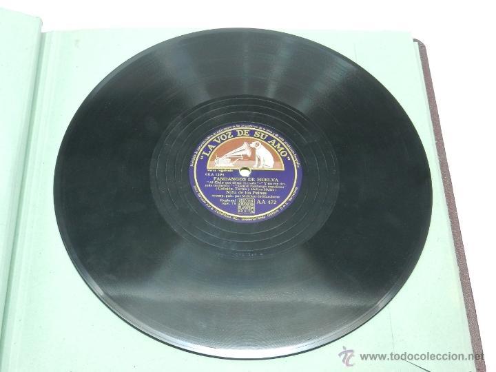 Discos de vinilo: ANTIGUO DISCO DE PIZARRA DE LA NIÑA DE LOS PEINES - FANDANGOS DE HUELVA / FIESTAS - ACOMP. GUIT. POR - Foto 3 - 41127020