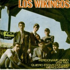 Discos de vinilo: LOS WIKINGOS - MERCI, CHERIE ( TEMA EUROVISION ) - PERDONAME AMIGO + 2 EP SPAIN 1966 VG++ / EX. Lote 41138491