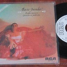 Discos de vinilo: ROCIO JURADO - PREGON CANASTERO / QUISIERA SER JARDINERA - SINGLE PROMOCIONAL - RCA 1979 SPAIN. Lote 41140080
