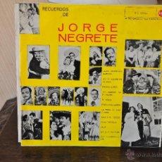 Discos de vinilo: JORGE NEGRETE. Lote 41145048