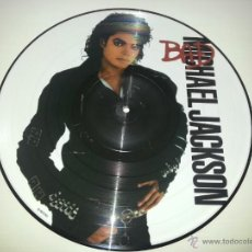 Discos de vinilo: MICHAEL JACKSON - BAD - PICTURE DISC RARO LP FOTODISCO - NUEVO EDICION ORIGINAL UK - VINILOVINTAGE. Lote 26157386