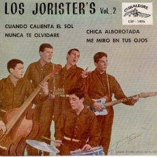 Discos de vinilo: LOS JORISTERS - CHICA ALBOROTADA ( TALLAHASSEE LASSIE ) + 3 - EP SPAIN 1962 EX / EX. Lote 41172091