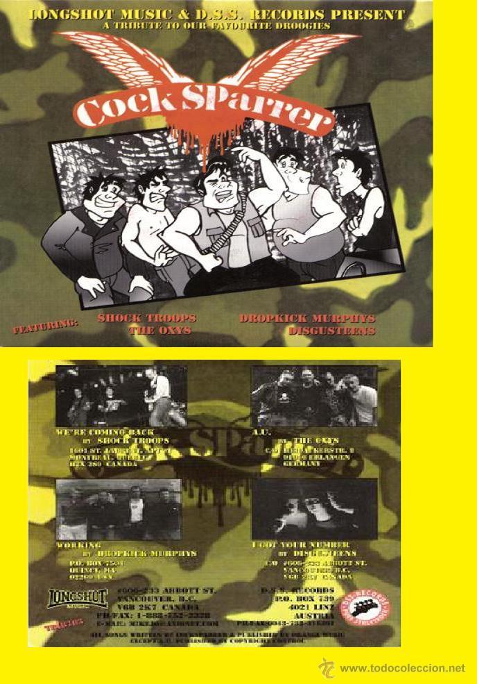 COCK SPARRER / A TRIBUTE TO OUR FAVORITE DROOGIES ( 4 TEMAS PUNK, OI!! ) ORG CANADA !! IMPECABLE (Música - Discos de Vinilo - EPs - Punk - Hard Core)
