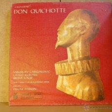 Discos de vinilo: JULES MASSENET - DON QUICHOTTE - PRODUKCIJA GRAMOFONSKIH PLOCA STV 213320/21 - 2XLP. Lote 41193675