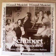 Discos de vinilo: SCHUBERT PEZZI PER PIANOFORTE PIANOFORTE JOERG DEMUS Y PIANO CANINO-BALLISTA. Lote 41204842