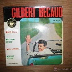 Discos de vinilo: GILBERT BECAUD. PLEIN SOLEIL + 3. EP. LA VOZ DE SU AMO 1964. VINILO IMPECABLE. Lote 41216970