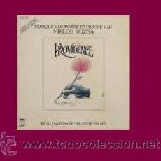 Discos de vinilo: PROVIDENCE LP BANDA SONORA ORIGINAL MUSICA MIKLOS ROZSA 1977 FRANCE. Lote 41218849