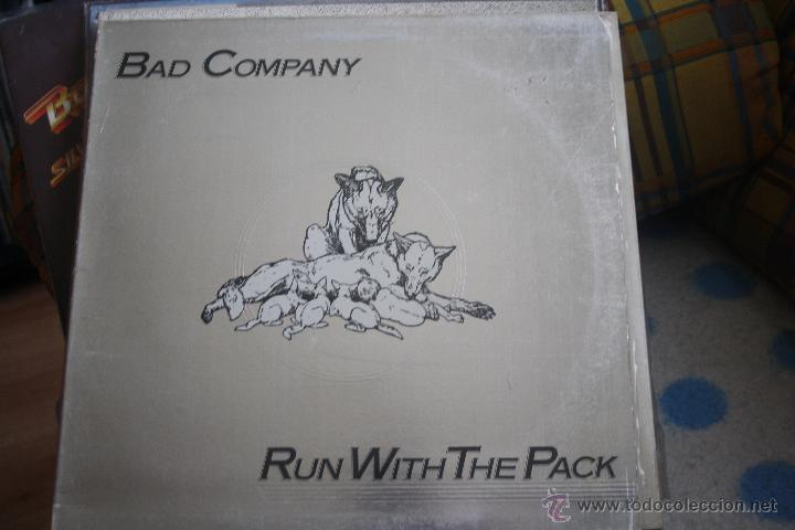 BAD COMPANY, RUN WITH THE PACK, PORTADA PLATEADA, LP (Música - Discos - LP Vinilo - Pop - Rock - Extranjero de los 70)