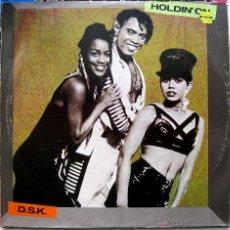 Discos de vinilo: DSK - HOLDIN' ON - MAXI BULL & BUTCHER RECORDINGS 1992 BPY. Lote 41222242