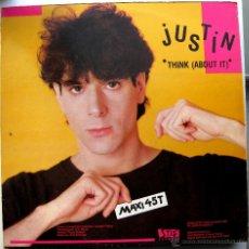 Discos de vinilo: JUSTIN - THINK (ABOUT IT) - MAXI STIFF RECORDS 1983 BPY. Lote 41224312