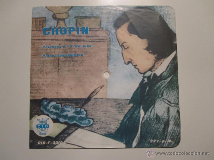 FLEXI 33 RPM SELLO CID ESPAÑOLA- CHOPIN PIANO JEAN GUITTON- RARISIMO (Música - Discos - Singles Vinilo - Clásica, Ópera, Zarzuela y Marchas)