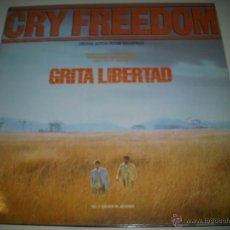 Discos de vinilo: CRY FREEDOM GRITA LIBERTAD (1987 MCA ESPAÑA) GEORGE FENTON JONAS GWANGWA DENZEL WASHINGTON . Lote 41234703