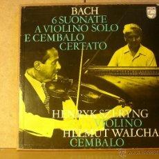 Discos de vinilo: BACH - 6 SUONATE A VIOLINO SOLO E CEMBALO CERTATO - PHILIPS FALB 220 - 1970 - 2XLP BOX. Lote 41239027