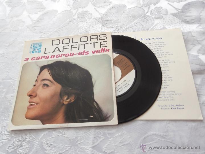 DOLORS LAFFITTE 7´SG A CARA O CREU (1968) *PREMIO REVELACION 1968 CANÇO CATALANA* MUY RARO (Música - Discos de Vinilo - EPs - Grupos Españoles 50 y 60)