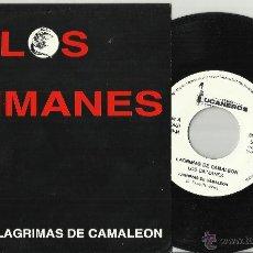 Discos de vinilo: LOS CAIMANES SINGLE LAGRIMAS DE CAMALEON ESPAÑA 1992. Lote 151079849