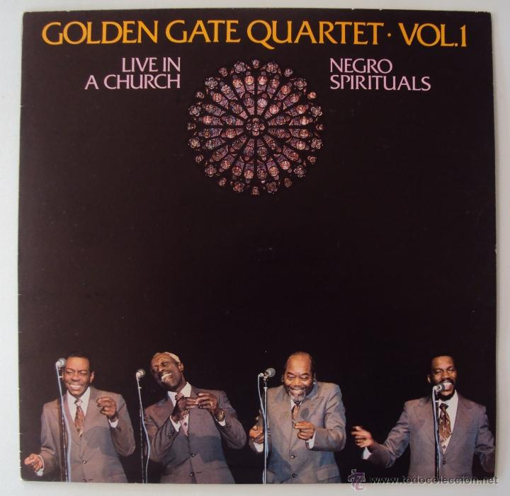 GOLDEN GATE QUARTET: LIVE IN A CHURCH VOL 1 (ESPIRITUAL NEGRO). EDIGSA 1982. SIN ESCUCHAR (Música - Discos - LP Vinilo - Jazz, Jazz-Rock, Blues y R&B)