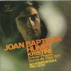 Discos de vinilo: JOAN BAPTISTA SINGLE SELLO COLUMBIA AÑO 1972. Lote 41247316