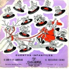 Discos de vinilo: CUENTOS INFANTILES EL LOBO Y LOS CABRITILLOS. Lote 41253302