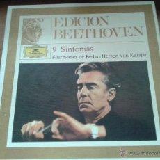 Discos de vinilo: NUEVE SINFONÍAS DE BEETHOVEN. HERBERT VON KARAJAN. FILARMÓNICA DE BERLÍN. Lote 41259825