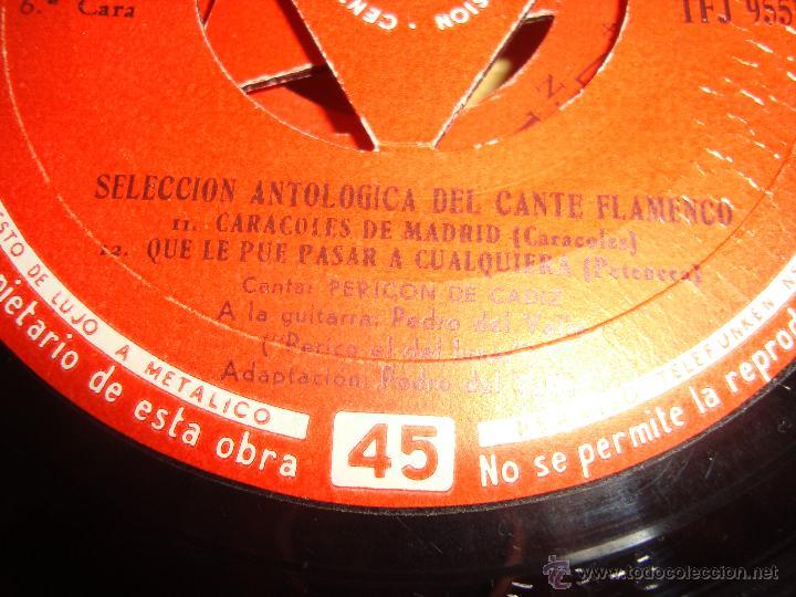 Discos de vinilo: FLAMENCO TELEFUNKEN 1958 PEDRO DEL VALLE (PERICO EL DEL LUNAR) Y PERICON DE CADIZ - Foto 3 - 41271251