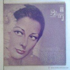 Discos de vinilo: CNCHA PIQUER- LA VOZ DE CONCHA PIQUER- DISCO DOBLE CON 2 LP'S- 24 CANCIONES DE LA PIQUER . Lote 41272924