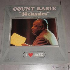 Discos de vinilo: COUNT BASIE - 14 CLASSICS - MADE IN SPAIN 1986 - LP. Lote 41273093