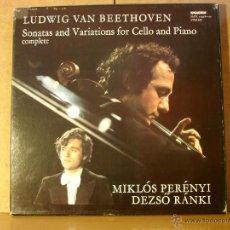 Discos de vinilo: MIKLOS PERENYI / DEZSO RANKI - BEETHOVEN: SONATAS AND VARIATIONS FOR CELLO AND PIANO (COMPLETE). Lote 41275307
