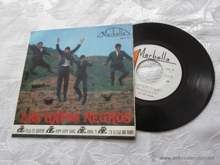 LOS GATOS NEGROS 7´EP ELLA TE QUIERE + PARA TI (COVER SPANISH BEATLES) + 2 TEMAS (1964) (Música - Discos de Vinilo - EPs - Grupos Españoles 50 y 60)