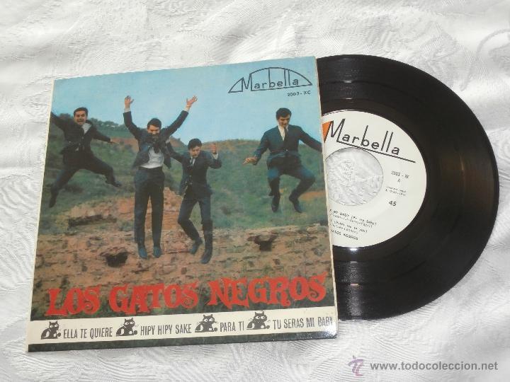 Discos de vinilo: LOS GATOS NEGROS 7´EP ELLA TE QUIERE + PARA TI (cover spanish BEATLES) + 2 TEMAS (1964) - Foto 2 - 41289236
